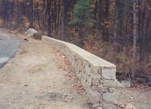 Stone wall in Hopkinton, Massachusetts by Don Nyren Masonry.