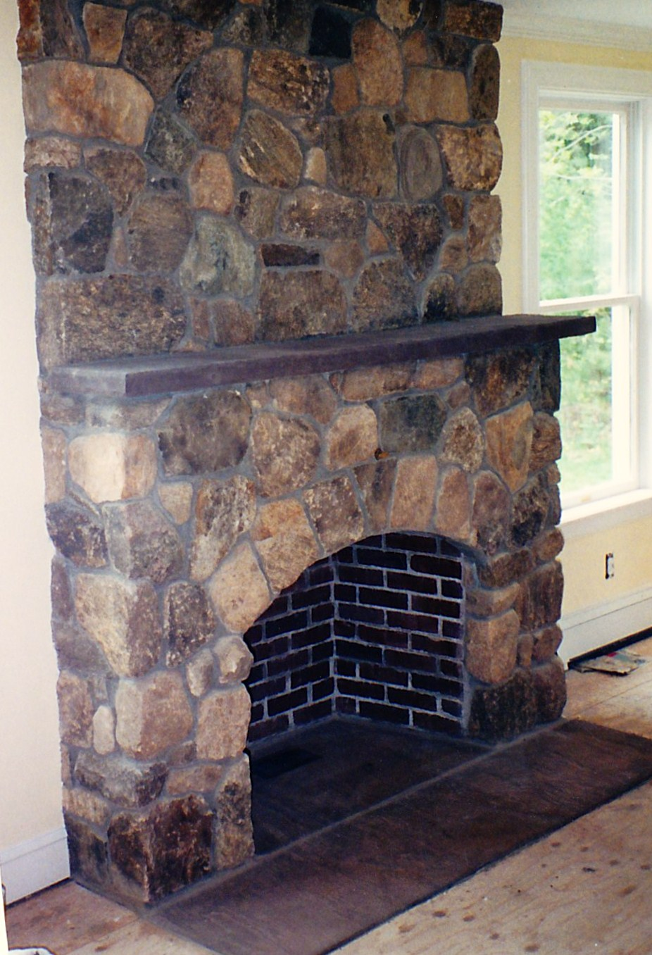 brick and stone fireplaces by don nyren masonry don nyren masonry. Black Bedroom Furniture Sets. Home Design Ideas