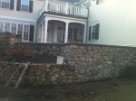 Stone wall in Wellesley, MA by Don Nyren Masonry